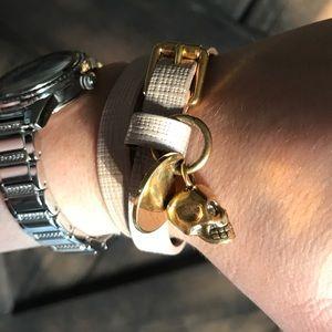 Alexander McQueen's Skull pink wrap bracelet
